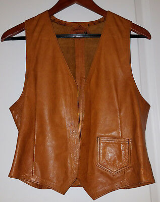 Brother Gambit Slick Trading Co Men's Leather Vest Size 36