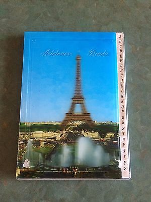 Address book featuring Eiffel Tower