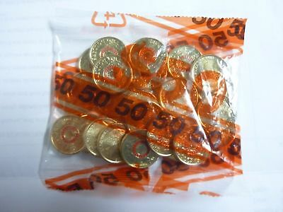 New 2015 Red Anzac $2 Coins in Uncirculated Mint Security Bag - 25 COINS