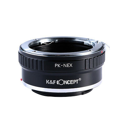 K&F Concept Metal Adapter Ring for Pentax K PK Mount Lens to Sony NEX E Mount