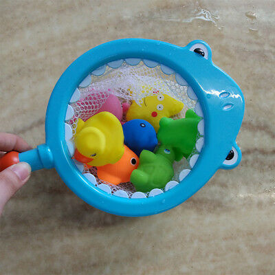 KQ_ Fishing Net Floating Animals Water Toy Baby Bathroom Pool Bath Toy for Kids