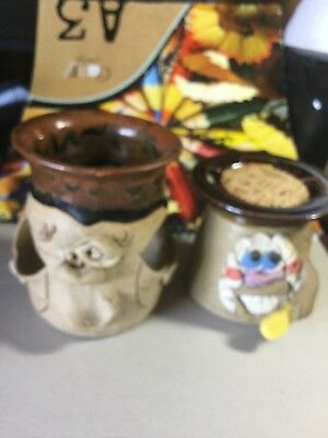 ugly mug pottery . No cracks or chips two nice items.