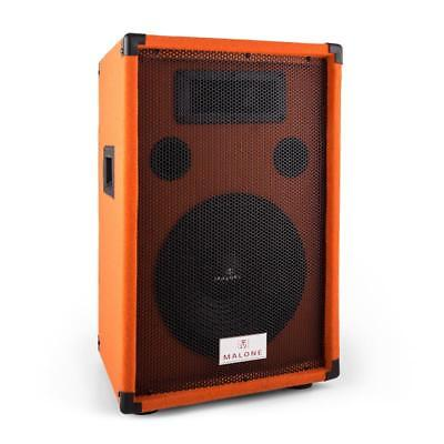 "Pa Lautsprecher 10"" (20Cm) Subwoofer 200W Rms Passiv Box Party Dj Studio Orange"