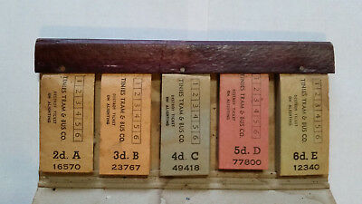 Leather ticket holder for conductors, Tinies Tram & Bus Co. - RARE & UNIQUE ITEM