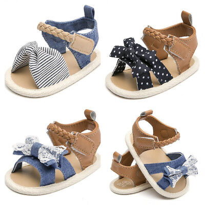 Newborn to 18 Month Soft Sole Baby Girl Pram Shoes Infant Toddler Summer Sandals