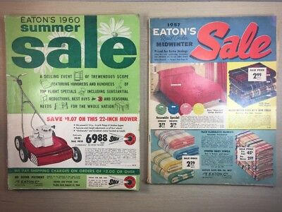 Eaton's CATALOG -Midwinter Mailorder Moncton Canada 1957 + summer 1960 lot of 2
