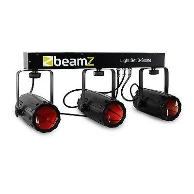 Pack jeu de lumiere pro 3 x spot 57 LED support inclinable eclairage dancefloor