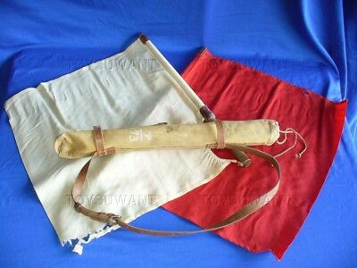 Ww2 Japanese Signal Flag Set W/case Shoulder Strap Marked Wwii Nice Artillery
