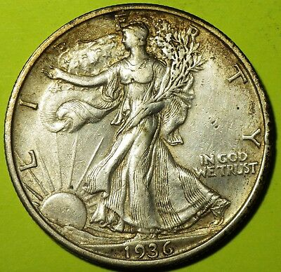1936-S Walking Liberty Half Dollar grading AU