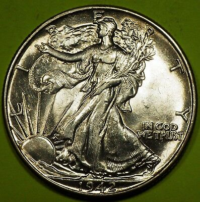 1944 Walking Liberty Half Dollar grading just a rub away from BU