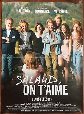 Affiche SALAUD ON T'AIME Johnny Hallyday CLAUDE LELOUCH Eddy Mitchell 40x60cm *