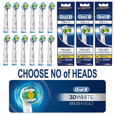 Braun Oral-B 3D WHITE Electric Toothbrush Replacement Brush Heads