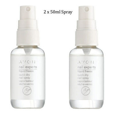 2 x Avon Nail Experts Liquid Freeze Quick Dry Nail Spray // Vanish 50ml