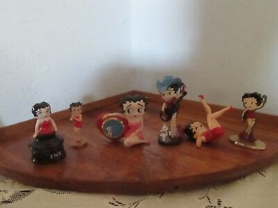 Betty Boop Figurine Lot of 6, Clock, Country Star Figure