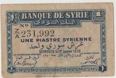Syrie,1,Une Piastre Syrienne,1920