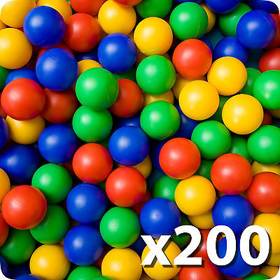 200x Plastic Balls for Ball Pits Childrens Kids Multi-Coloured Toys Play Pool