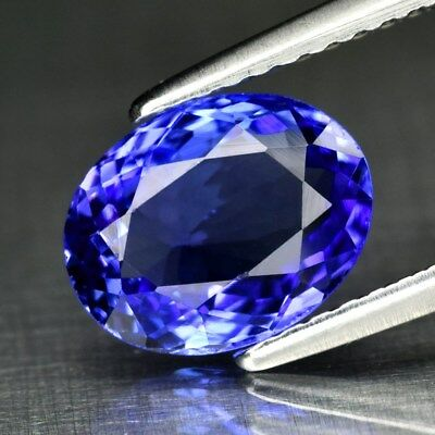 Clean! IF 1.80ct 9x7mm Oval Natural Violet Blue Tanzanite, Tanzania