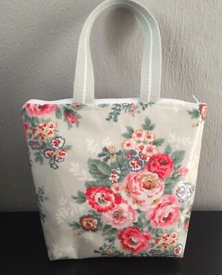 Handmade Oilcloth Thermal Lined Lunch Cool Bag Cath Kidston Candy Flowers