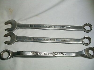 3 x large sidchrome spanners - made in australia