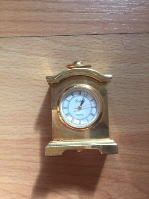 Tiny Brass Carrage Clock QUARTZ