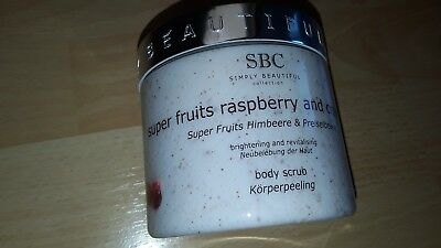 SBC super fruits raspberry and cranberry körperpeeling 450 ml NEU,ungeöffnet
