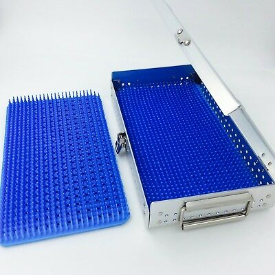 Aluminium Alloy sterilization tray case with two silicone mats surgical tray
