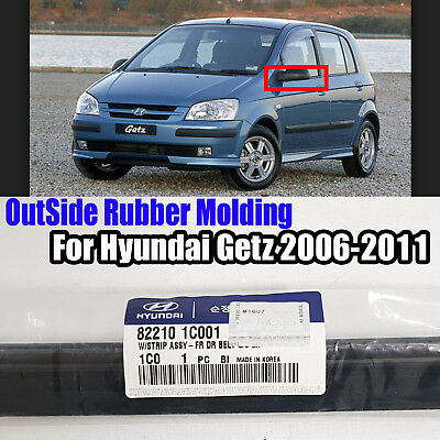 822101C001 Window OutSide Rubber Molding Front LH For Hyundai Getz 2006-2011