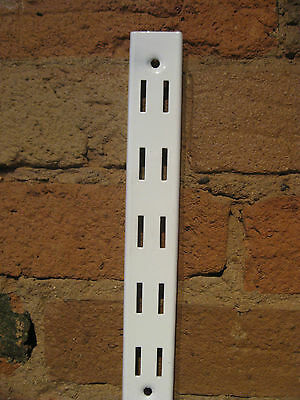 Wall strip for shelving 2.4mts Double Slot 40pt Use single brackets,side by side