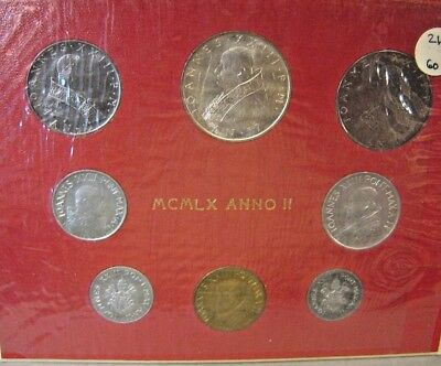 1960 Vatican City Year II 8 Piece Mint Coin Set        ** FREE U.S. SHIPPING **