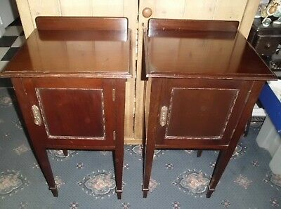 Pair of Antique Waring and Gillow ceramic Lined Pot Cabinets
