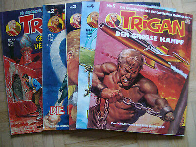 5 x Trigan Gevacur (Nr. 1-5 ) Comic Sammlung Softcover Don Lawrence