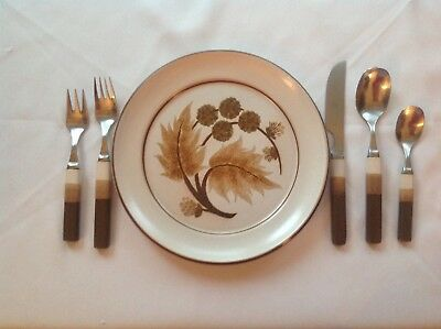 DENBY Touchstone Flatware created to go with Cotswold Dishes, 12 place settings