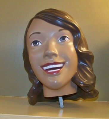 "Rare Old Navy Mannequin Woman Lady Female Brown Hair Head ""Supermodelquin"""