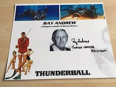 Ray Andrew Autogramm 20x30 In Person  James Bond Feuerball  mit CoA