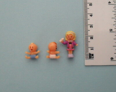 Polly Pocket (Bluebird): 'Babytime Fun' - Dolls Only in Exc Condition (UK, 1994)