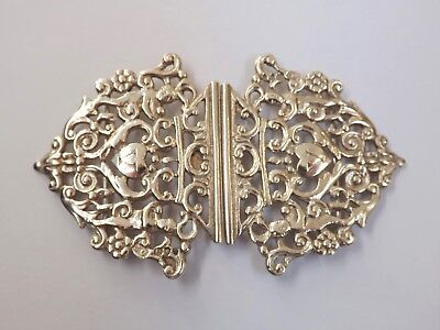 Antique Victorian Sterling Silver Nurses Buckle - London 1893
