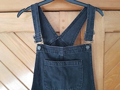 Asos Maternity Dungarees (black denim, size 12)