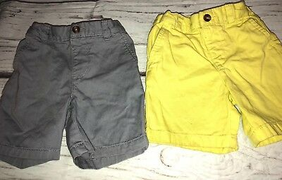 Childrens Place Boys Toddler Shorts 2T Adjustable Waist Lot Of 2 Pair