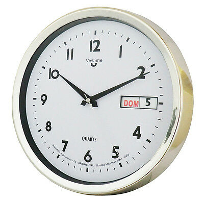 Elegant Watch Modern Round Wall For Office/home With Date 30X30X6Cm
