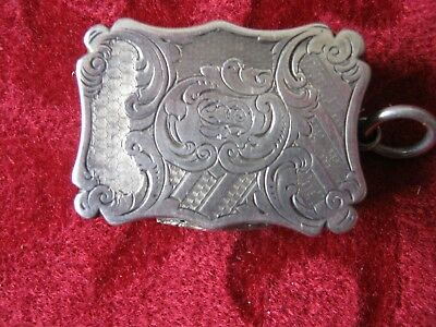 Excellent Victorian Solid Silver Vinaigrette by Nathaniel Mills, 1800'S
