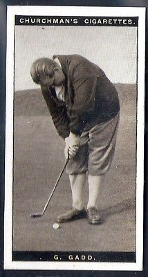 Churchman-Famous Golfers Golf-#12- George Gadd