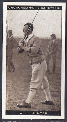 Churchman-Famous Golfers Golf-#24- William Irvine Hunter