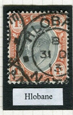 SOUTH AFRICA; Transvaal used Natal, Ed VII issue 1s. value, Hlobane
