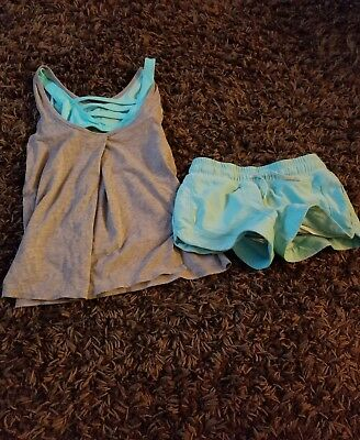 ivivva size 6/7 shorts and top lot