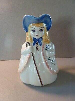 "Vintage SHAWNEE POTTERY Little Bo Peep USA Milk Water Pitcher 8"" Tall"