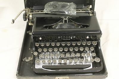 Vintage Royal Touch Control Glass Key Typewriter W/ Case. UNTESTED.