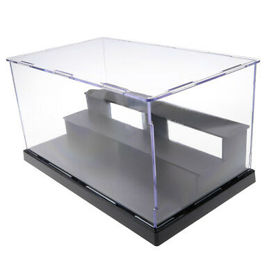 Acrylic Model Display Case Dustproof Protection Three-tier Box for Figures