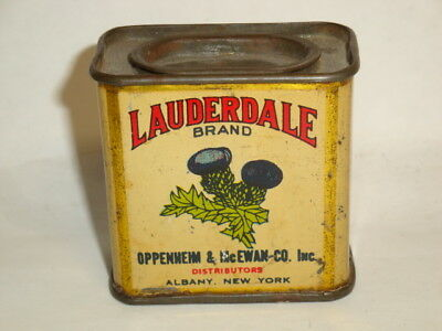 Nice Old Litho General Store Lauderdale Brand Mace Advertising Spice Tin Can 1oz