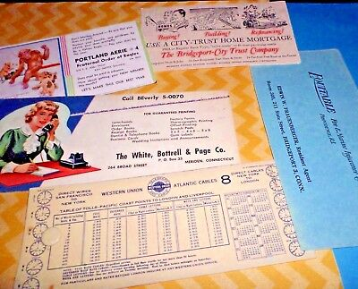Advertising Blotter LOT Office Western Union Insurance Eagles Lodge 30's 40's -5