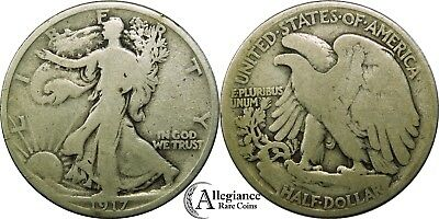 1917-P 50c Walking Liberty Half Dollar rare old silver type coin
